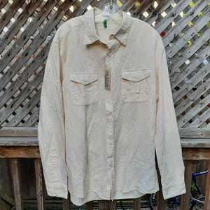 Men's long sleeve shirt size large nwt